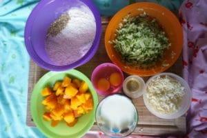 Minimuffins mit Kürbis und Zucchini für den Beikoststart
