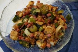 Brezenknödel im leckeren Salat passend für die Oktoberfestparty von breifreibaby