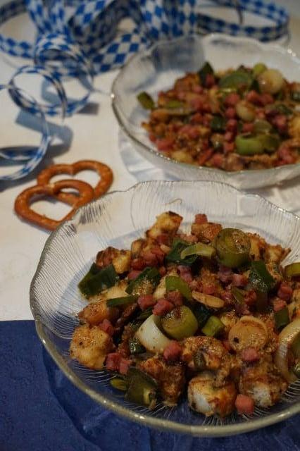 Brezenknödel im Salat von breifreibaby