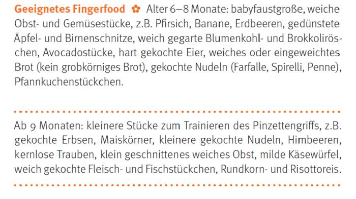 geeignet Lebensmittel für Fingerfood_breifreibaby
