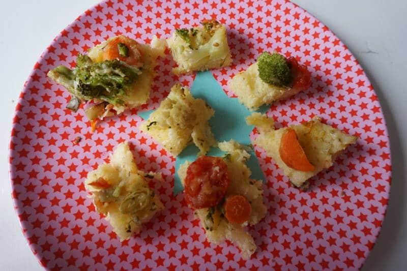 Polentapizza für Babys mit Gemüse