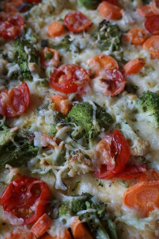 Polentapizza vegetarisch von breifreibaby