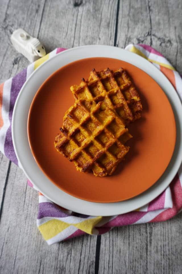 Breifrei Rezepte für Babys - Süßkartoffelwaffeln von breifreibaby