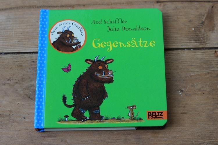 Tolle Kinderbücher: Gegensätze und Mein erstes Fühlbuch, hier der Grüffelo von Axel Scheffler