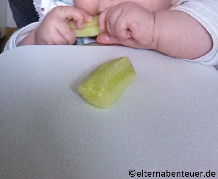 Gurke eignet sich super für baby-led weaning