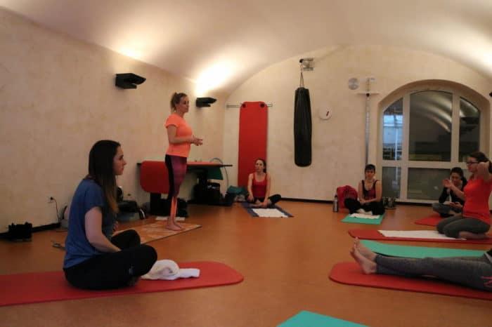 Pilates beim Elternblogger Treffen in Speyer - Bild von Frinis Teststübchen