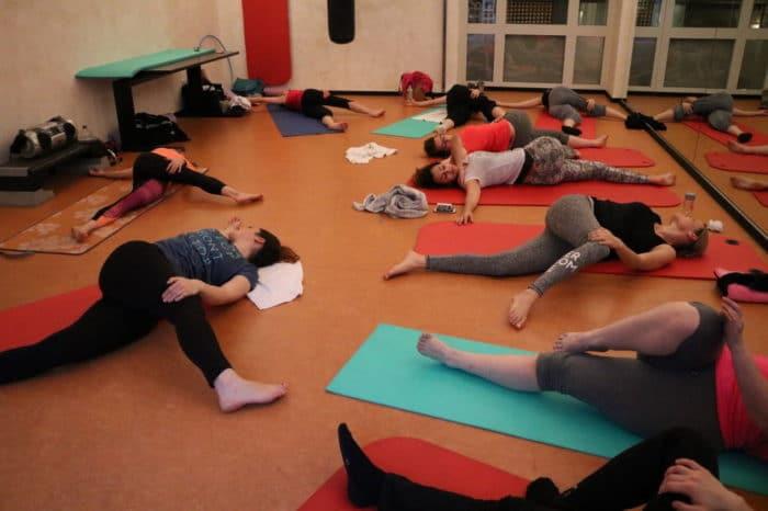 Mamablogger beim Pilates Bild von Frinis Teststübchen