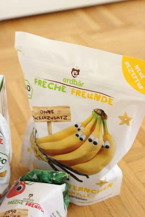 Zum Frühstück Freche Freunde Bananensternchen - gesundes für Babys und Kinder