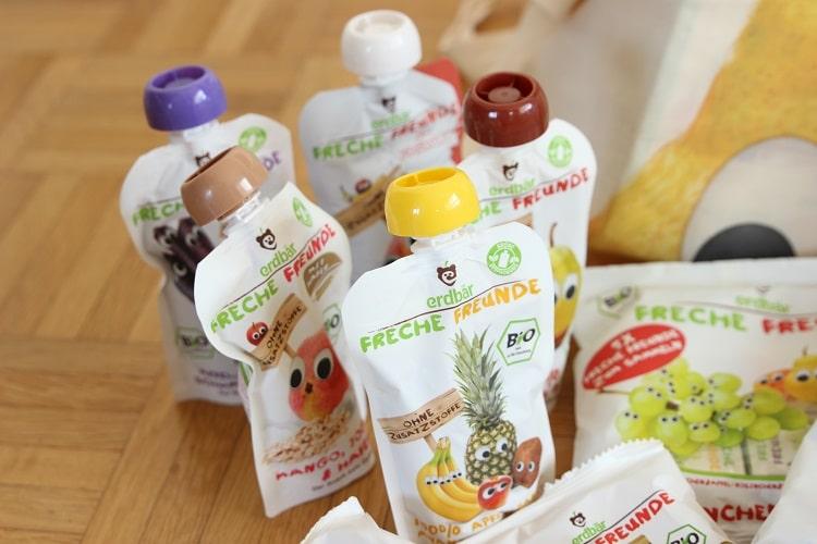 Gesunde Snacks für Kinder von Freche Freunde - Quetschies mit Obst und Gemüse