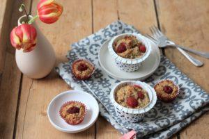Himbeer-Haferflocken-Muffins ohne Zucker