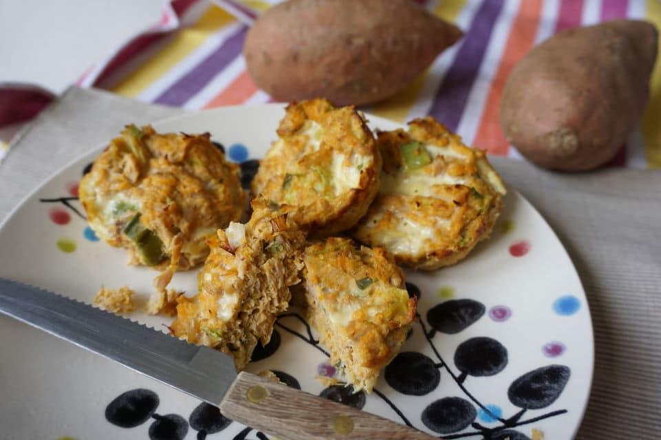 Süßkartoffelmuffins mit Thunfisch für Kleinkinder