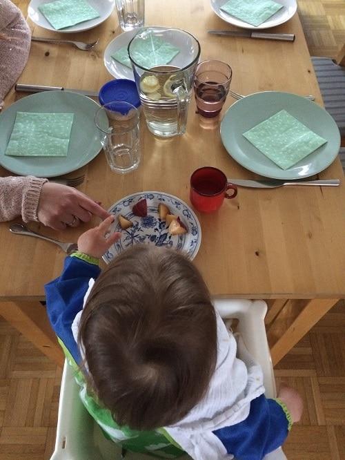 Vorrspeise fürs breifreibaby: Mandarine und Pflaume - WIB Ostern