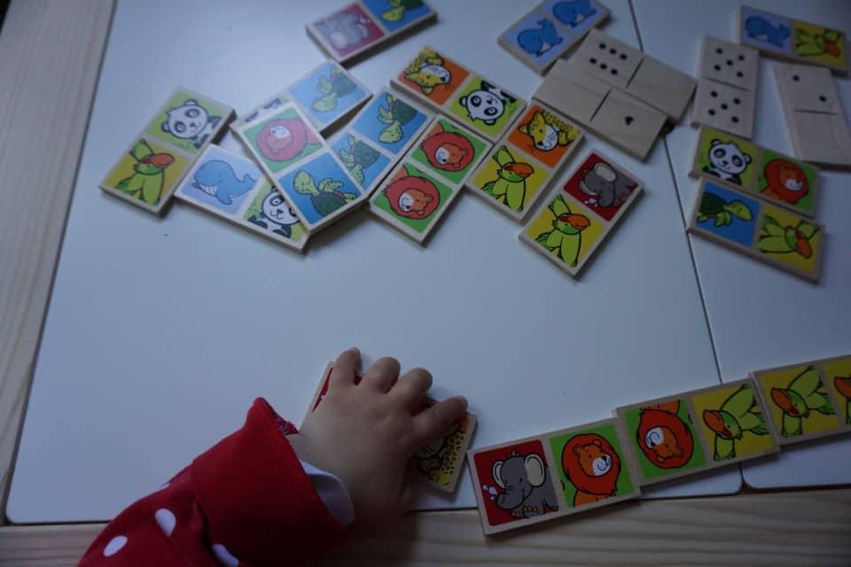 Domino mit Tieren - Kinderspiel