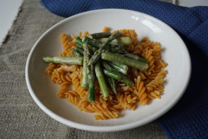 grüner Spargel mit Nudeln - Mittagessen 12 von 12