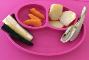 Happy Mat mit Babyessen - Fingerfood und warum Babybrei nicht baby-led weaning ist