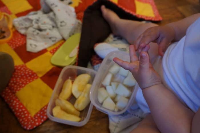 BLW unterwegs - Obst als Snack für Zwischendurch beim Babykonzert Wiesbaden