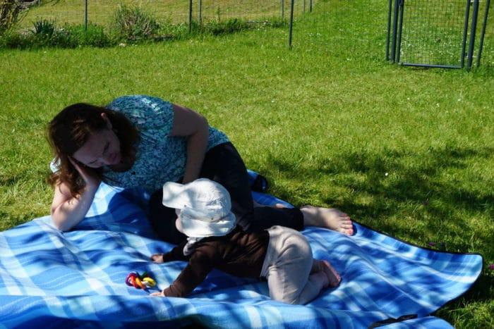 Mama und Baby im Schwarzwald Urlaub