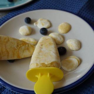 Mango-Eis ohne Zucker - für Babys und Kleinkinder mit Stiel