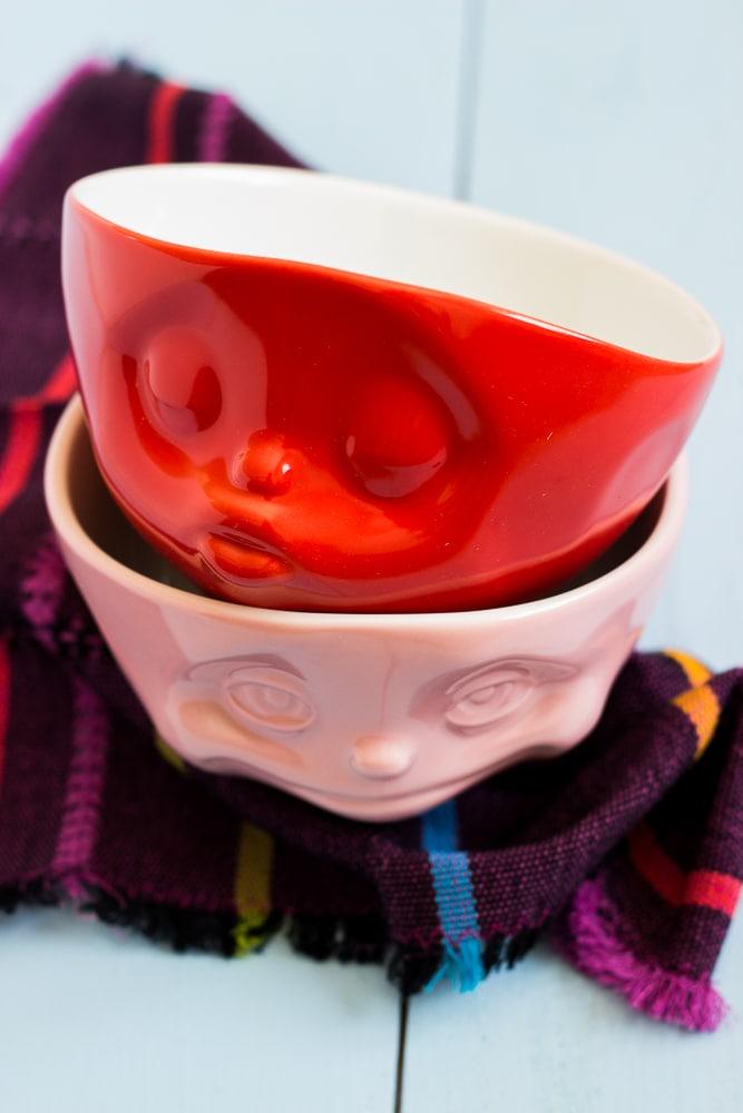 Müslischalen von 58products - schön bunt und für Kinder geeignet + 1 Rezept für Aprikosenmüsli