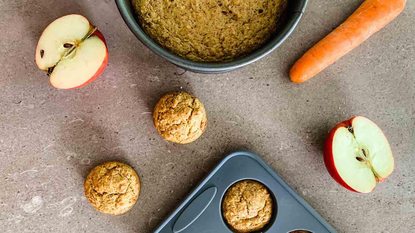 gesunde Muffins für Babys - BLW Rezept für Möhrenmuffins