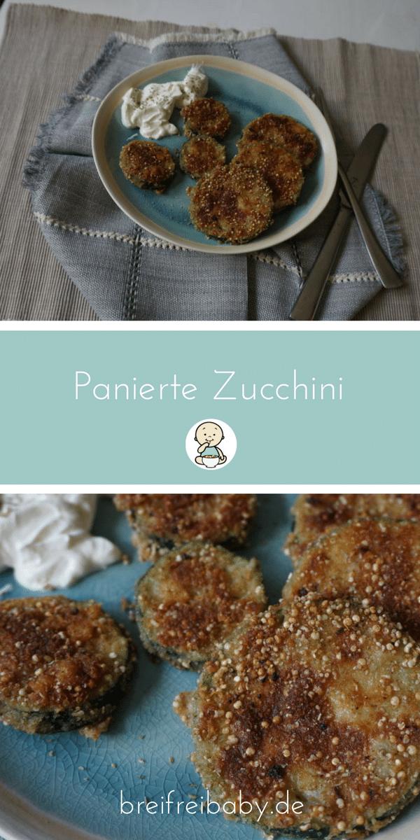 Rezepte für Kinder und Babys - panierte Zucchini