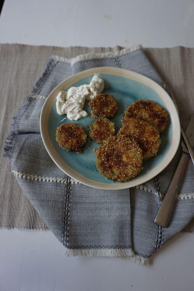 Zucchini mit knuspriger Panade als leckeres breifrei Gericht