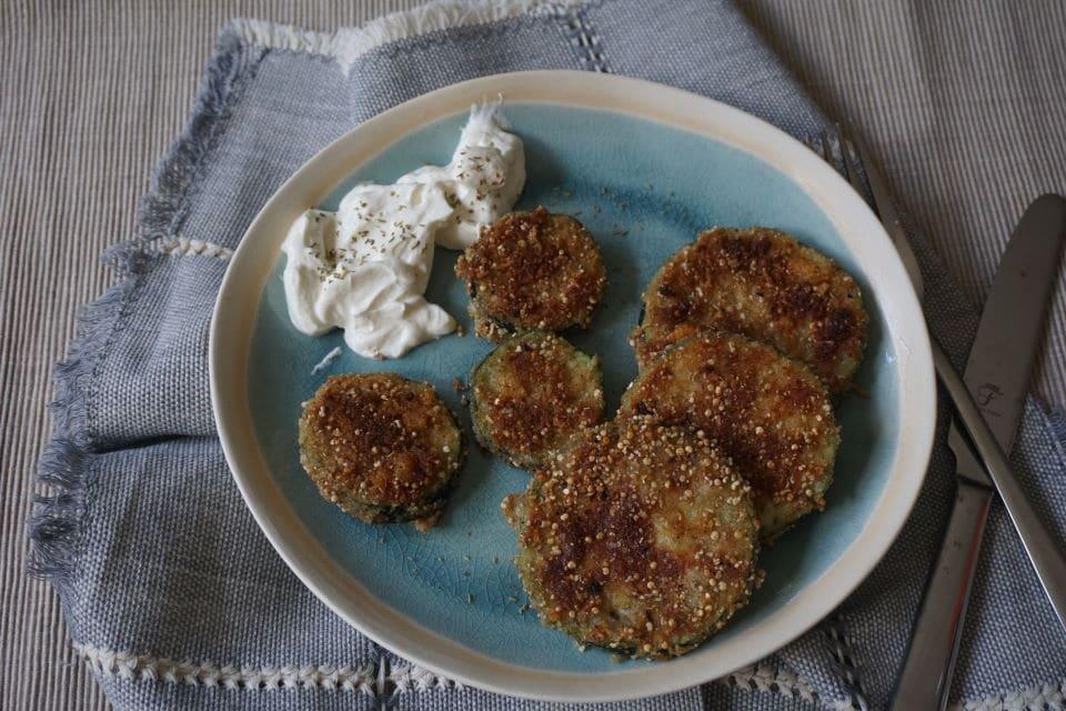 panierte Zucchini - BLW und breifrei Rezept