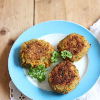 Couscous Bratlinge für breifrei und baby-led weaning - unser vegetarisches Rezept
