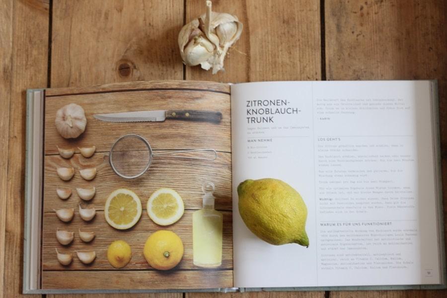 Die besten Hausmittel - natürlich ohne Chemie - Buchvorstellung - Hausmittel für Kinder - Knoblauch-Zitronen-Trunk