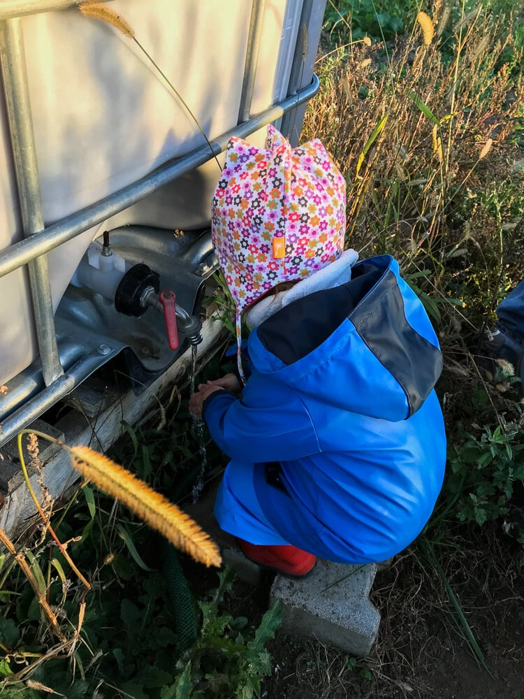 Saisongarten mit Baby - Tipps