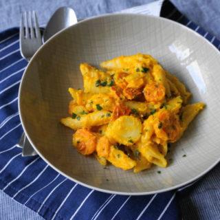 Kürbis One Pot Pasta - Familien BLW Rezept