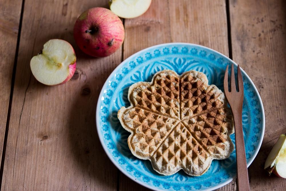 Apfelwaffeln ohne Zucker