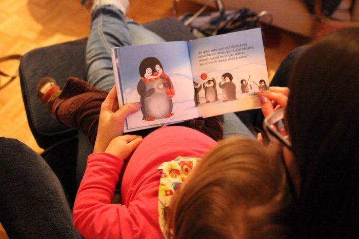 Kinderbuch Flim Pinguin im Kindergarten
