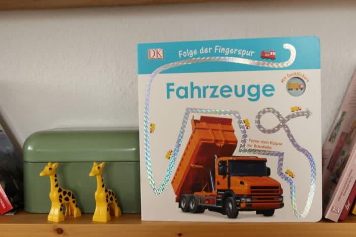 Fingerspurenbuch Fahrzeuge für Kinder - Adventskalender Idee