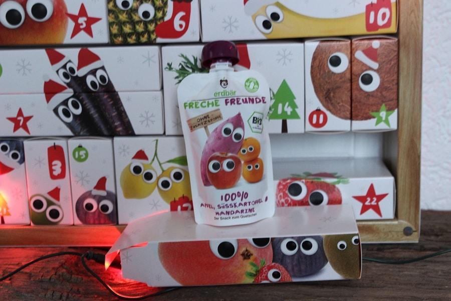 Freche Freunde Quetschies im Adventskalender mit limitierter Stückzahl
