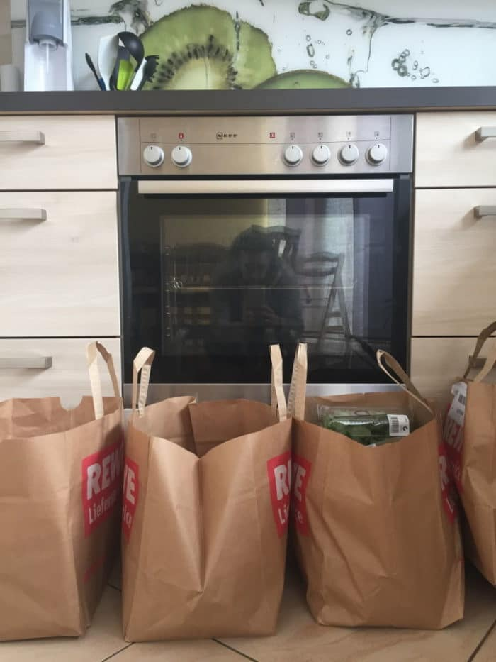 Familien Einkauf für eine Woche