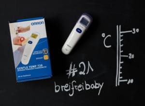 breifreibaby Adventskalender 2017: #21 drei digitale Omron Fieberthermometer zur Messung an der Stirn