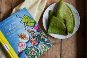 Grüne Pfannkuchen Rezept und ein Buchtipp Die grüne Küche für jeden Tag