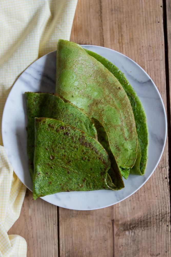 Spinat Pfannkuchen Grüne Pfannkuchen Rezept und ein Buchtipp Die grüne Küche für jeden Tag