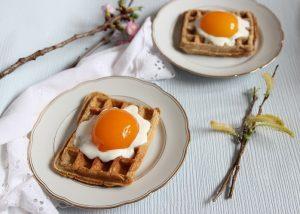 Rezept Spiegelei Waffeln zu Ostern