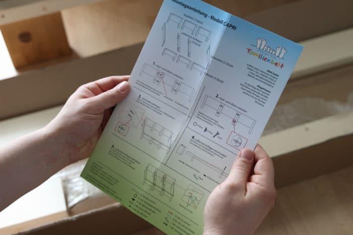 Die Anleitung für den Aufbau des Original RIMA Familienbett - DIY