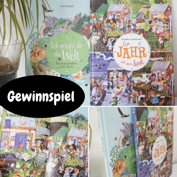 """2x2 Bücher zugewinnen - Wimmelbuch """"Ein Jahr auf dem Land"""" und """"Ich erzähl dir die Welt"""" für Kinder"""