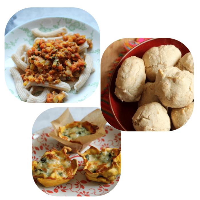 BLW Rezepte: vegetarische Bolognese für Kinder mit Linsen, Apfelmusbrötchen als breifrei Frühstück, Lasagnemuffins mit Lachs und Spinat