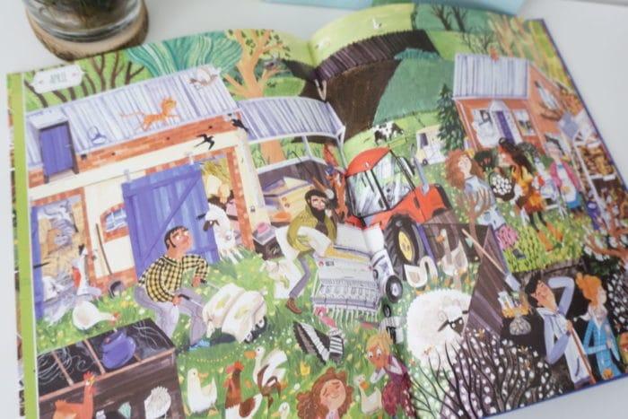 Wimmelbuch Ein Jahr auf dem Land - Bauernhof, Tiere und Natur für Kinder