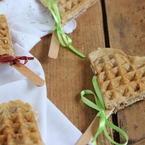 Vegane Waffeln am Stiel ein tolles Rezept für Kindergeburtstag