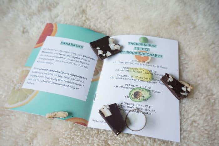 SChokolade und Infos über Ernährung in der Schwangerschaft von Mommy Box