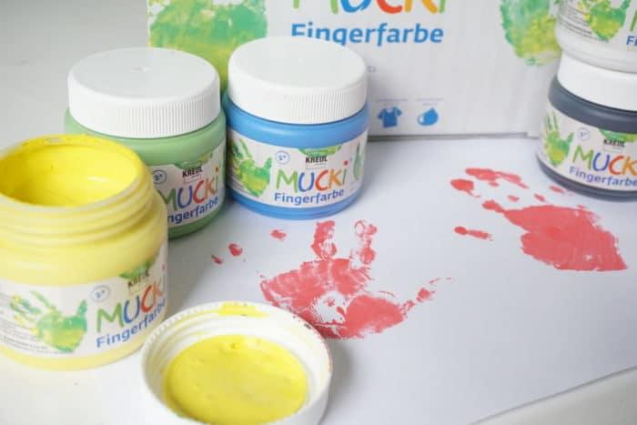 Fingerfarbe für Babys und Kleinkinder von Mucki