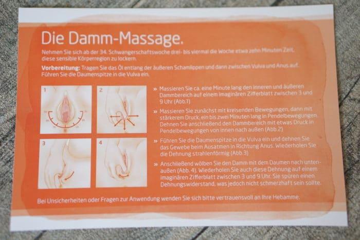 Anleitung zur Dammmassage - Dammmassageöl für die Geburtsvorberitung