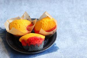 WM-Rezept in schwarz rot gold für eine ganz große Mannschaft – Muffins in Deutschlandfarben