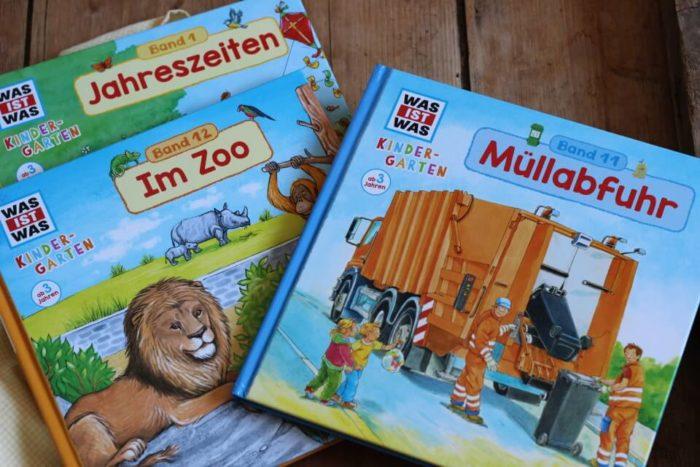 Was ist was Kindergarten Bücher: Müllabfuhr, Im Zoo, Jahreszeiten für Kinder ab 3 Jahren vom TESSLOFF Verlag mit Gewinnspiel
